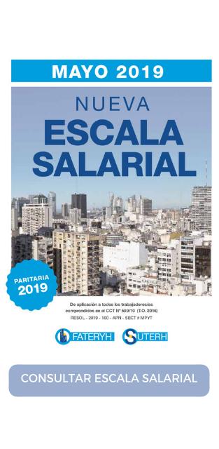 ESCALA SALARIAL MAYO 2019 - SUTERH